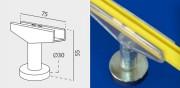 Clip magnétique pour cadre ABS - Diamètre : 30 mm - Dimension (Hxl) : 55 x 75 mm