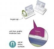Clip porte affiche suspendu - Magnétique - Dim : L 53 x l 43 mm