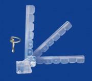 Clip stop rayon 3 positions - Longueur : 145 mm
