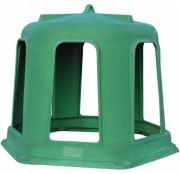 Cloche a foin hexagonale - 6 passages de tête - Fabriqué en résine de polyéthylène