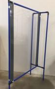 Cloison de séparation sur pieds - Dimensions panneau de protection : 1000 x 1400 mm