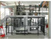 Cloison en tôle protection machine - Enceinte de protection sans poteaux