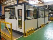 Cloison et cabine d'atelier personnalisables - Hauteur standard jusqu'à 6 mètres - 2 gammes: premium et courante
