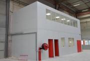Cloison industrielle modulable - Composée de double paroi isolée en acier
