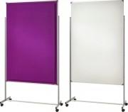 Cloison mobile de bureau - Recto-verso - Dimensions (H x L) : 160 à 180 x 120 cm