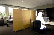 Cloison mobile pour bureau - Dimensions : 80 x 160cm