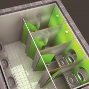 Cloison sanitaire - Réalisé en stratifié massif de 10 ou 13 mm d'épaisseur.