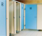 Cloison sanitaire stratifié massif - Stratifié massif 10 ou 13 mm -