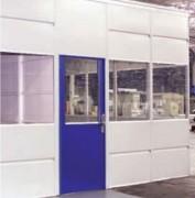 Cloison tôlée semi-vitrée - Cloison de séparation sans plafond