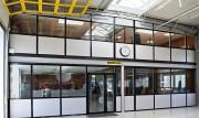 Cloison vitrée amovible - Modèles : Toute hauteur - Mi hauteur - Avec décoration sur la vitre