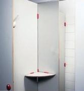 Cloisonnette de déshabillage pour douche - Epaisseur : 10 mm