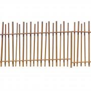 Clôture à barreaudage en acier - Acier corten - Longueur : 2950 mm - Hauteur : 2124 mm