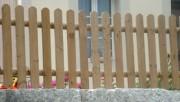 Clôture avec planchettes - Barriere