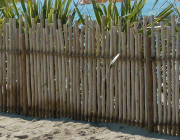 Clôture eucalyptus CORDEA - Clôture naturelle homologuée piscine