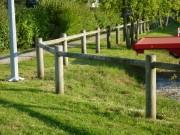 Clôture bois poteaux ronds - Longueur (m) : 2