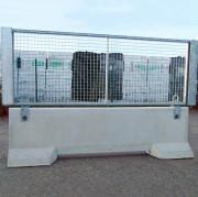 Clôture chantier habillage grille - Longueur : 293 cm  - Largeur : 50 cm  - Hauteur : 110 cm