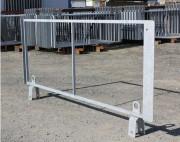 Clôture chantier métal - Cadre métallique adaptable sur le stabilisateur