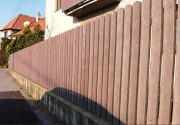 Clôture d'extérieur en matériau recyclé - Dimensions (L x l) cm : De 60 x 7.5 à 200 x 7.5