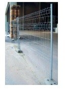 Clôture de chantier 2 tubes - Clôture de chantier 2 tubes en métal galvanisé