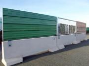 Clôture de chantier 3 en 1 modulable et personnalisable - Stabilisateur béton et cadre métallique galvanisé
