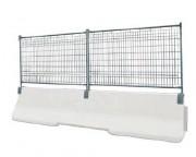Clôture de chantier sur glissière béton - Clôture de chantier sur glissière béton armé
