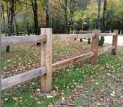Clôture de jardin en châtaignier - Pour 1 ou 2 lisses - Hauteur hors sol : 1200 mm