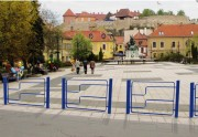Clôture de sécurité pour ville - Encombrement (mm) : 1500 x 80