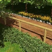 Clôture en bois de pin