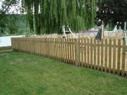 Clôture en bois pour jardin - Dimensions (mm) : 2000 x 28 x 1200
