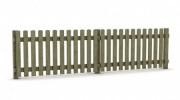 Clôture en pin traité classe 4 - Longueur : 200 cm