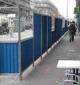 Clôture mobile semi grillagées 2x2 mètres - Clôtures mobiles - 2x2 bardées et semi-grillagées
