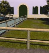 Clôture pin pour espaces verts