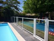Clôture piscine transparente