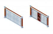 Clôture pour terrain de sport - Hauteur rambarde latérale (m) : 1