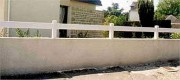 Clôture PVC blanc 1 lisse - Personnaliser votre clôture PVC selon vos besoins