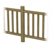 Clôture rondin en bois pin - Poteau en rondin -  Diamètre (cm) :12  -  Longueur (cm) : 150
