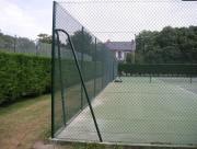 Clôture tennis grillagée - Filet résistant en acier - Hauteur : 3 m