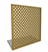 Clôture treillis en bois - Dimensions (mm) : 1800 x 45 x 1800