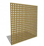 Clôture treillis en bois ajouré - Dimensions (mm) : 1800 x 30 x 1800