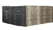 Clôture tressée eucalyptus - Clôture brise-vue en rondins tressés
