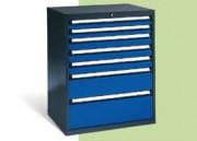 Coffre à tiroir charge lourde - Dimensions intérieures des tiroirs : L 700 x P 600 mm, hauteur des portes battantes 670 mm