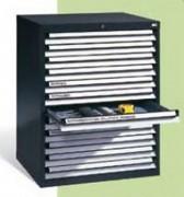 Coffre à tiroir pour établis - Capacité de charge des tiroirs : 75 kg - A ouverture complète