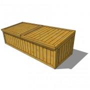 Coffre de rangement en bois - Dimensions (mm) : 1800 x 700 x 550