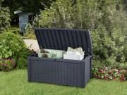 Coffre de rangement jardin - Dimensions extérieures hors tout (LxPxH) :129,5 x 70 x 62,5 cm