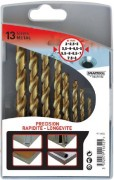 Coffret 13 forets métaux professionnel
