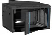 Coffret 2 sections noir 550 mm - Coffret 2 sections 9 u noir prof 550 mm