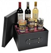 Coffret cadeau à 3 bouteilles de vin luxe - 2 bouteilles vin rouge - 1 bouteille vin blanc