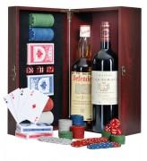 Coffret cadeau poker à 2 bouteilles de vin - Mallette poker  - 2 bouteilles vin