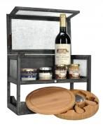 Coffret cadeau vins et fromages - Une bouteille de vin rouge