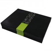 Coffret plateau repas - Dimensions (L x l x h) : 400 x 300 x 65 mm